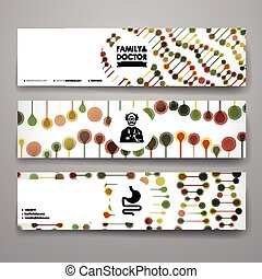 Set of modern design banner template in healthcare style