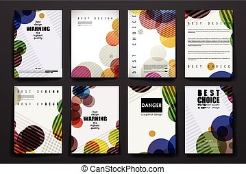 Set of brochure, poster design templates in abstract...