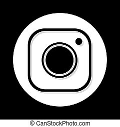 nice black flat cam symbol - Creative design of nice black...