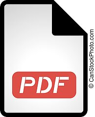 pdf file icon - Creative design of pdf file icon
