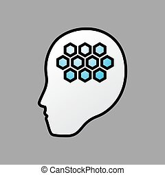 robot brain symbol - Creative design of robot brain symbol