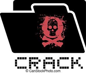 crack folder symbol - Creative design of crack folder symbol