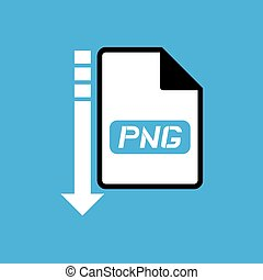 download file png symbol - Creative design of download file...