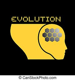 evolution brain symbol design - Creative design of evolution...