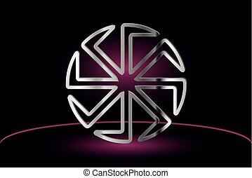 symbol Kolovrat, symbol of the sun, - symbol Kolovrat,...