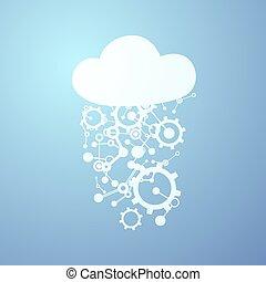 imaginative cloud tech symbol - Creative design of...