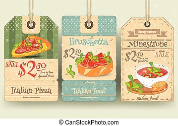 Italian Food Tags Price - Italian Food - Set of Tags with...