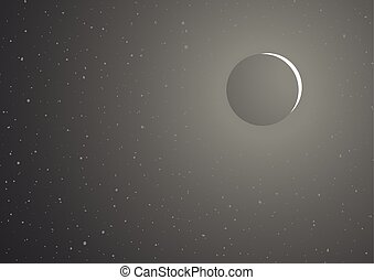 moon eclipse background - Creative design of moon eclipse...