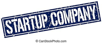startup company square grunge stamp