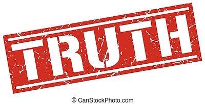 truth square grunge stamp
