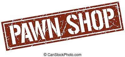 pawn shop square grunge stamp
