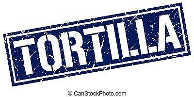 tortilla square grunge stamp