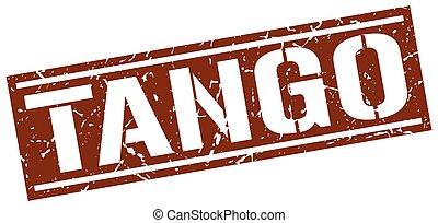tango square grunge stamp