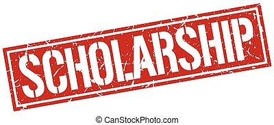 scholarship square grunge stamp