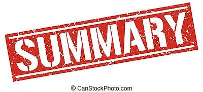 summary square grunge stamp
