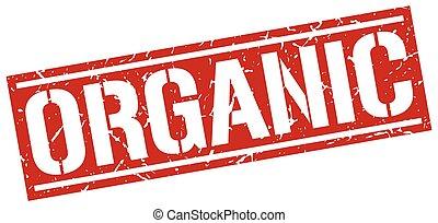 organic square grunge stamp