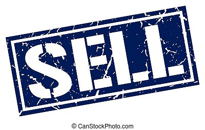 sell square grunge stamp