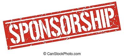 sponsorship square grunge stamp