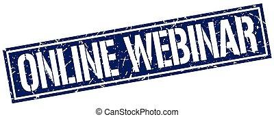online webinar square grunge stamp