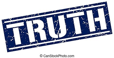 truth square grunge stamp