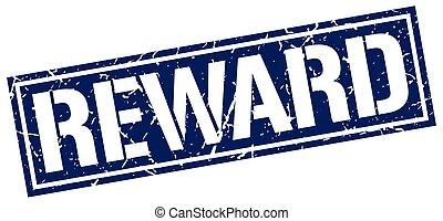 reward square grunge stamp
