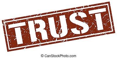 trust square grunge stamp
