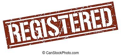 registered square grunge stamp