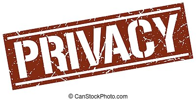 privacy square grunge stamp