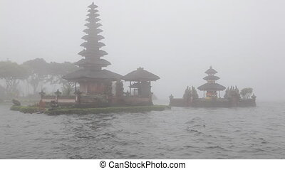 Pura Ulu Danau Temple on Bratan lak - Bali, Indonesia