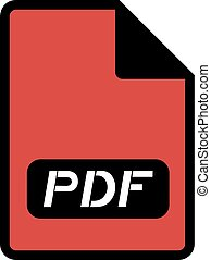pdf file icon design - Creative design of pdf file icon...