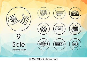 Set of sale icons - sale modern icons for mobile interface...