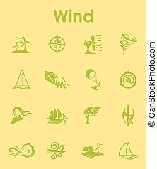 Set of wind simple icons - It is a set of wind simple web...