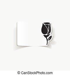 realistic design element: rose