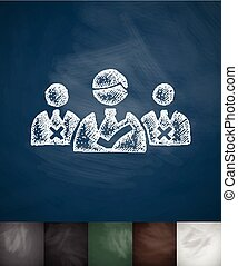candidates icon. Hand drawn vector illustration. Chalkboard...