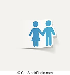realistic design element: couple in love