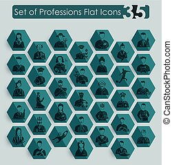 Set of professions icons
