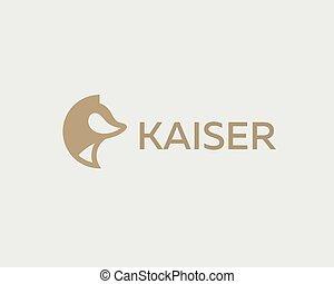 Abstract animal logo design template. Dog wolf fox pet...
