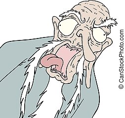 ugly old man - Creative design of ugly old man