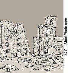 apocalypse city - Creative design of apocalypse city