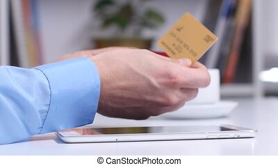 Online shopping. Many different credit cards - Online...