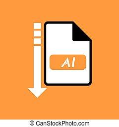 download file ai symbol - Creative design of download file...