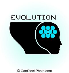 evolution brain symbol - Creative design of evolution brain...