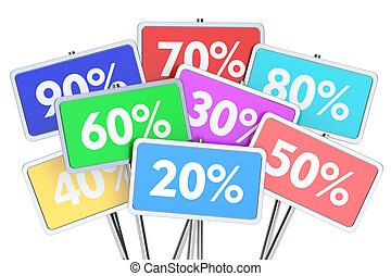 sale and discount concept, 3D rendering