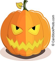 halloween devil pumpkin - Pumpkin for Halloween with devil...