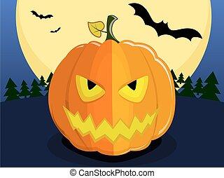 halloween devil pumpkin - Pumpkin for Halloween on...