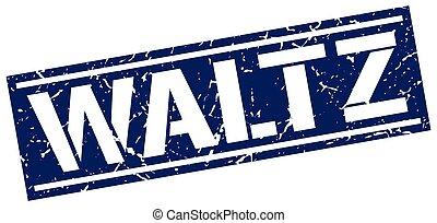 waltz square grunge stamp