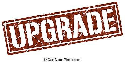 upgrade square grunge stamp