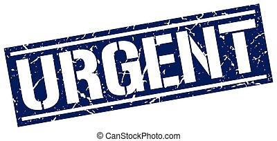 urgent square grunge stamp
