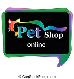 pet shop sign or banner