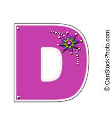 Alphabet Metallica Pink D